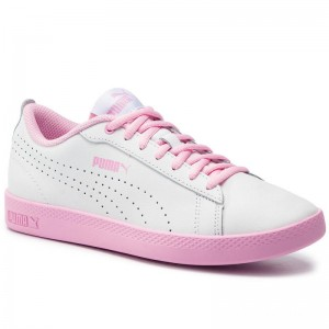 Puma Sneakers Smash Wns V2 L Perf 365216 07 White/Pale Pink