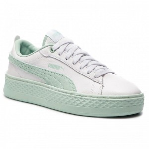 Black Friday 2020 | Puma Sneakers Smash Platform L 366487 07 White/Fair Aqua