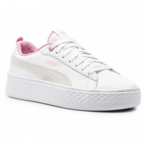 Black Friday 2020 | Puma Sneakers Smash Platform L 366487 08 White/Pale Pink
