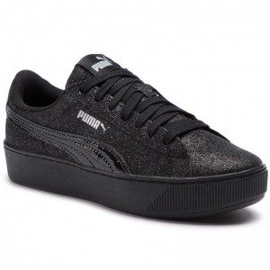 Black Friday 2020 | Puma Sneakers Vikky Platform Glitz Jr 366856 05 Black/Puma Black