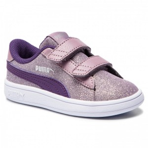 Black Friday 2020 | Puma Sneakers Smash V2 Glitz Glam V Inf 367380 06 Elderberry/Indigo/Silver/Wht