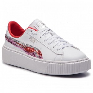 Puma Sneakers Basket Platfrm Trailblazer Sqn Jr 369045 02 White/Hibiscus