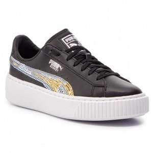 Black Friday 2020 | Puma Sneakers Basket Pltfrm Trailblazer SQN Jr 369045 03 Black/Puma Team Gold