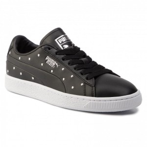 Black Friday 2020 | Puma Sneakers Basket Studs Wn's 369298 02 Black/Puma Silver
