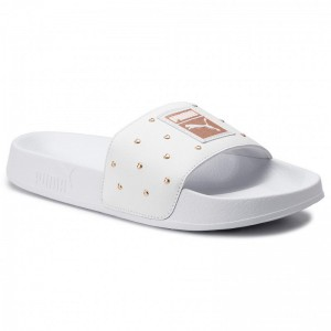 Black Friday 2020 | Puma Mules / sandales de bain Leadcat Studs Wns 369405 02 White/Rose Gold