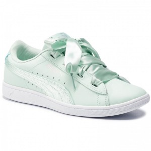 Black Friday 2020 | Puma Sneakers Vikky Ribbon L Satin Jr 369542 01 Fair Aqua/Fair Aqua