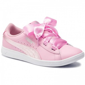 Black Friday 2020 | Puma Sneakers Vikky Ribbon L Satin Jr 369542 03 Pale Pink/Pale Pink