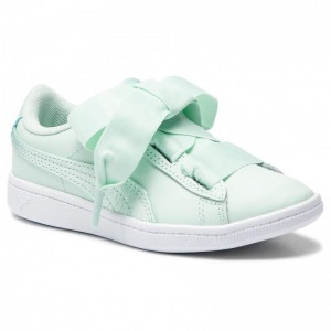 Black Friday 2020 | Puma Sneakers Vikky Ribbon L Satin Ps 369543 01 Fair Aqua/Fair Aqua