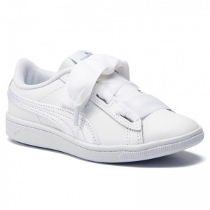 Puma Sneakers Vikky Ribbon L Satin Ps 369543 02 White/Puma White