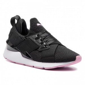 Puma Sneakers Muse Tz Wn's 369658 02 Black/Pele Pink