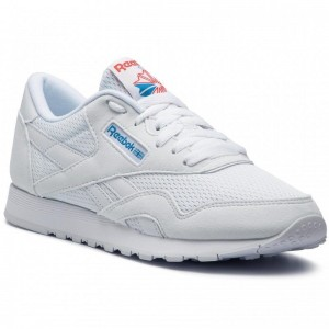 Reebok Chaussures Cl Nylon Txt CN6684 White/Blue/Neon Red