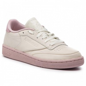 Black Friday 2020 | Reebok Chaussures Club C 85 CN7041 Chalk/Lilac/Fierce Gold