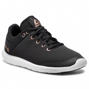 Black Friday 2020 | Reebok Chaussures Studio Basics CN6668 Black/White/Rose Gold