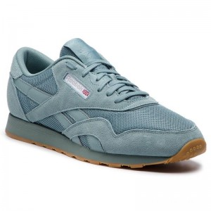 Black Friday 2020 | Reebok Chaussures Cl Nylon Mu CN6766 Teal Fog/White/Skull Grey