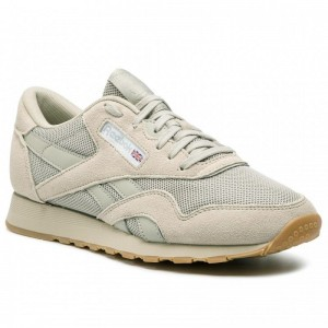 Black Friday 2020 | Reebok Chaussures Cl Nylon Mu CN6767 Light Sand/Wht/Skull Grey