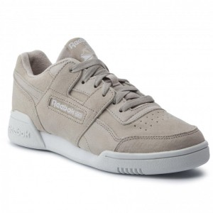 Black Friday 2020 | Reebok Chaussures Workout Lo Plus CN6973 Light Sand/Wht/True Grey