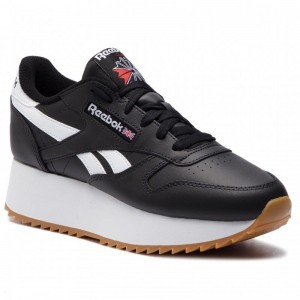 Reebok Chaussures Cl Lthr Double DV3631 Black/White/Primal Red