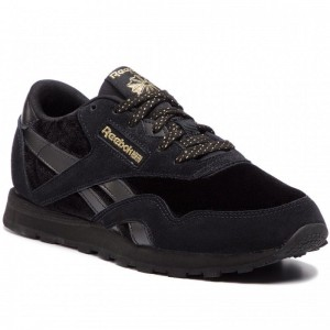 Black Friday 2020 | Reebok Chaussures Cl Nylon DV4542 Black/Gold