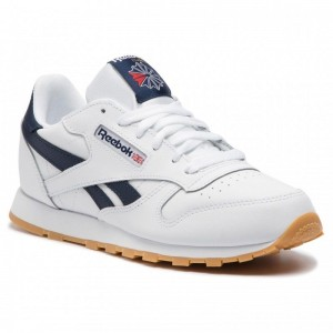 Black Friday 2020 | Reebok Chaussures Classic Leather DV4567 White/Collegiate Navy/Gum