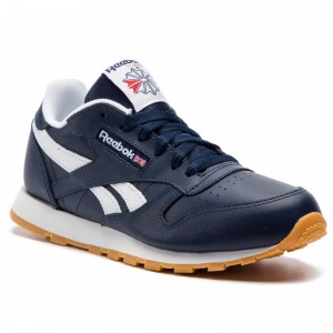 Black Friday 2020 | Reebok Chaussures Classic Leather DV4571 Collegiate Navy/White/Gum