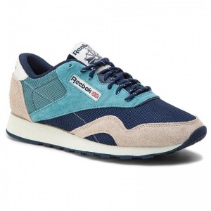 Black Friday 2020 | Reebok Chaussures Cl Nylon Mu CN7196 Mist/Navy/Sand/Polar