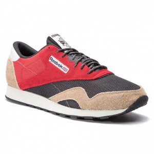 Black Friday 2020 | Reebok Chaussures Cl Nylon Mu CN7197 Red/Grey/Beige/Polar