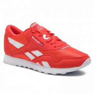 Black Friday 2020 | Reebok Chaussures Cl Nylon Color CN7446 Canton Red/White
