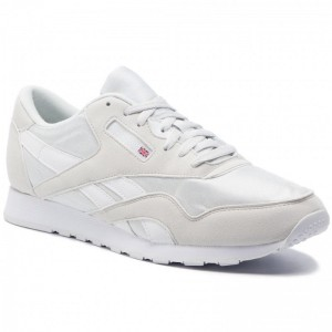 Black Friday 2020 | Reebok Chaussures Cl Nylon Color CN7448 True Grey/White