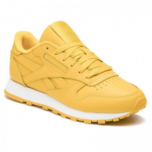 Black Friday 2020 | Reebok Chaussures Cl Lthr CN7604 Urban Yellow/White