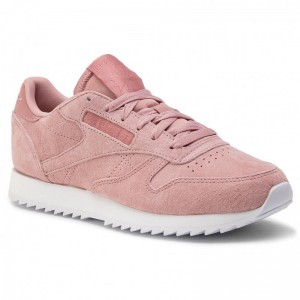 Reebok Chaussures Cl Lthr Ripple DV3636 Smoky Rose/White