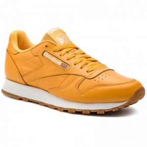 Black Friday 2020 | Reebok Chaussures Classic Leather Mu DV3841 Trek Gold/White