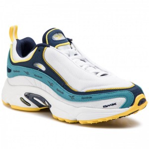 Black Friday 2020 | Reebok Chaussures Daytona Dmx Vector DV3890 White/Navy/Mist/Yellow