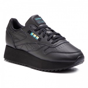 Reebok Chaussures Cl Lthr Double DV5392 Black/White/Blue/Gold