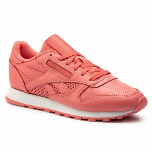 Black Friday 2020 | Reebok Chaussures Cl Lthr CN6728 Rose/White