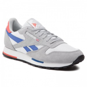 Reebok Chaussures Cl Leather Mu CN7036 Wht/Gry/Cobalt/Orange/Blk