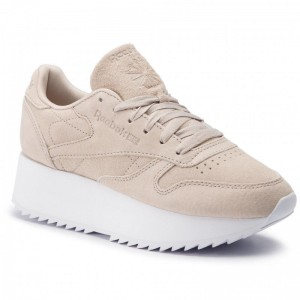 Black Friday 2020 | Reebok Chaussures Cl Lthr Double DV3629 Sand/White