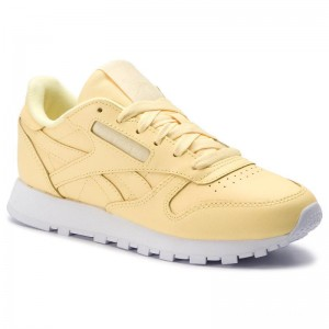 Reebok Chaussures Cl Lthr DV3725 Filtered Yellow/White