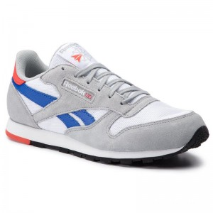 Black Friday 2020 | Reebok Chaussures Classic Leather DV4395 White/Grey/Cobalt/Orange