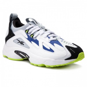 Black Friday 2020 | Reebok Chaussures Dmx Series 1200 Lt DV7537 White/Cloud Gry/Blue/Lime