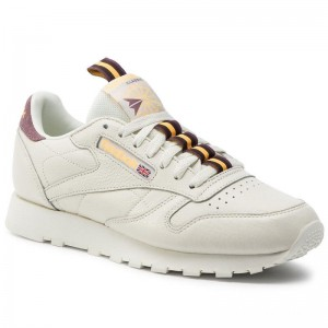 Black Friday 2020 | Reebok Chaussures Cl Leather Mu DV4083 Chalk/Orchid/Gold/Earth