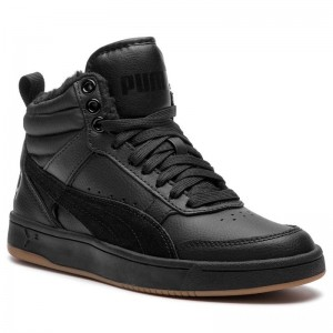 Black Friday 2020 | Puma Sneakers Rebound Street V2 L Fur Jr 368197 01 Black/Black/Black