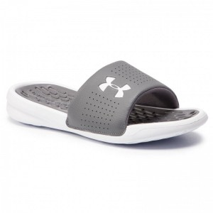 Under Armour Mules / sandales de bain Ua M Playmaker Fix Sl 3000061-101 Gris
