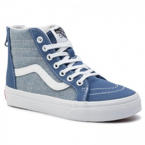 Black Friday 2020 | Vans Tennis Sk8-Hi Zip VN0A3276VIO1 (Chambray) Canvas True Na