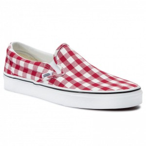 Black Friday 2020 | Vans Tennis Classic Slip-On VN0A38F7VDY1 (Gingham) Racing Red/True