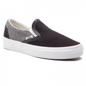 Black Friday 2020 | Vans Tennis Classic Slip-On VN0A38F7VJ61 (Chambray) Canvas Black/T