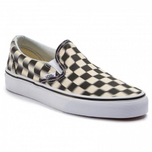 Black Friday 2020 | Vans Tennis Classic Slip-On VN0A38F7VJM1 (Blur Check) Black/Classi
