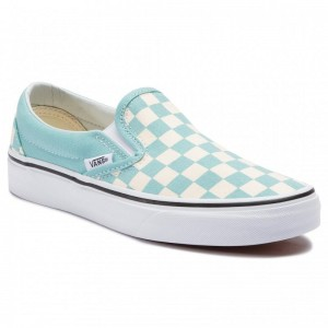 Black Friday 2020 | Vans Tennis Classic Slip-On VN0A38F7VLU1 (Checkboard) Aqua Haze