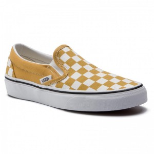 Vans Tennis Classic Slip-On VN0A38F7VLY1 (Checkerboard) Yolk Yello