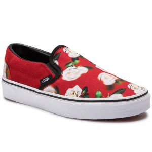 Black Friday 2020 | Vans Tennis Classic Slip-On VN0A38F7VMI1 (Romantic Floral) Chili P