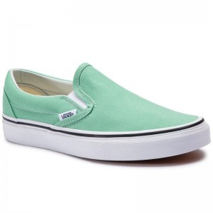Black Friday 2020 | Vans Tennis Classic Slip-On VN0A38F7VMX1 Neptune Green/True White